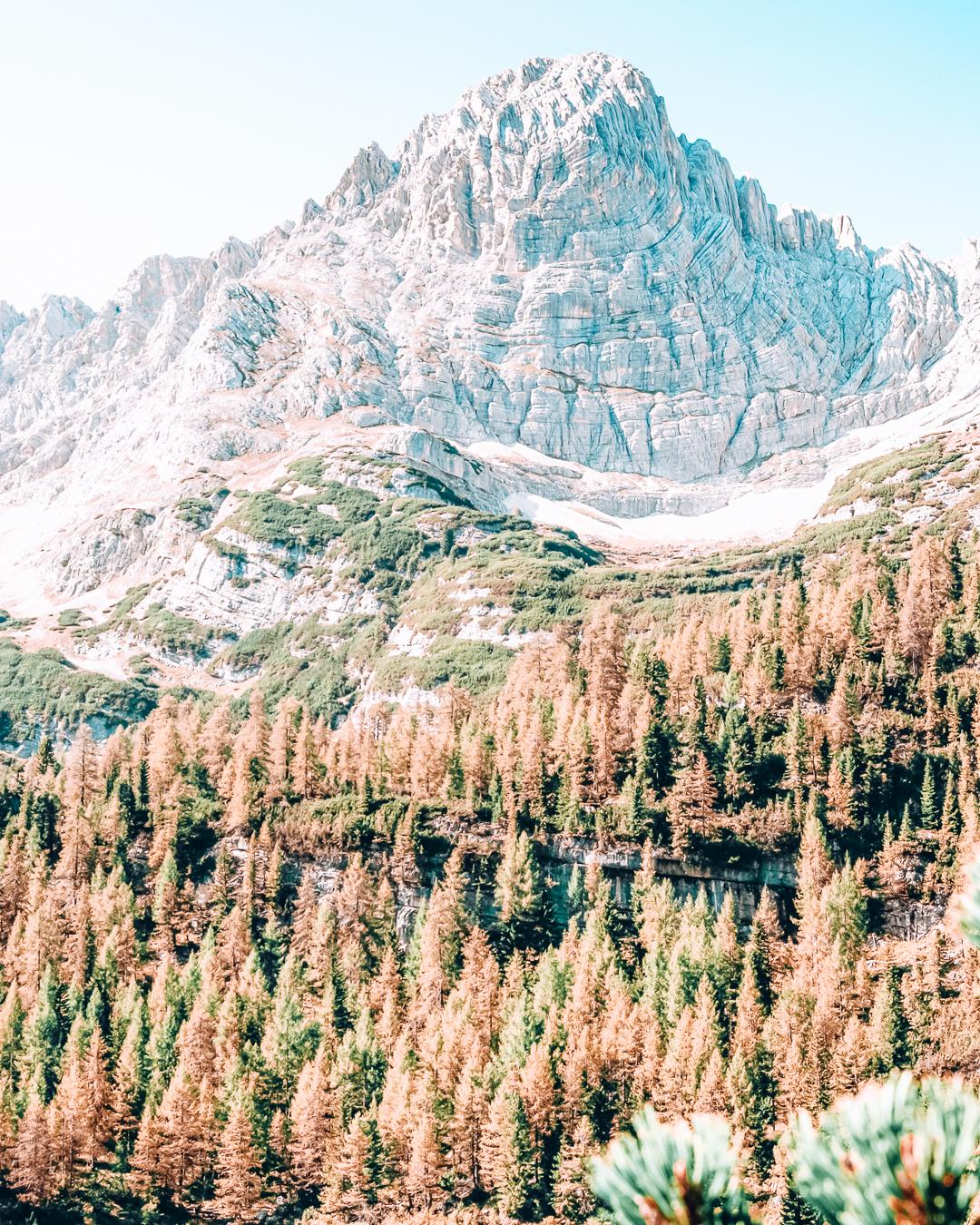 Beautiful nature at Lake Sorapis in the Dolomites