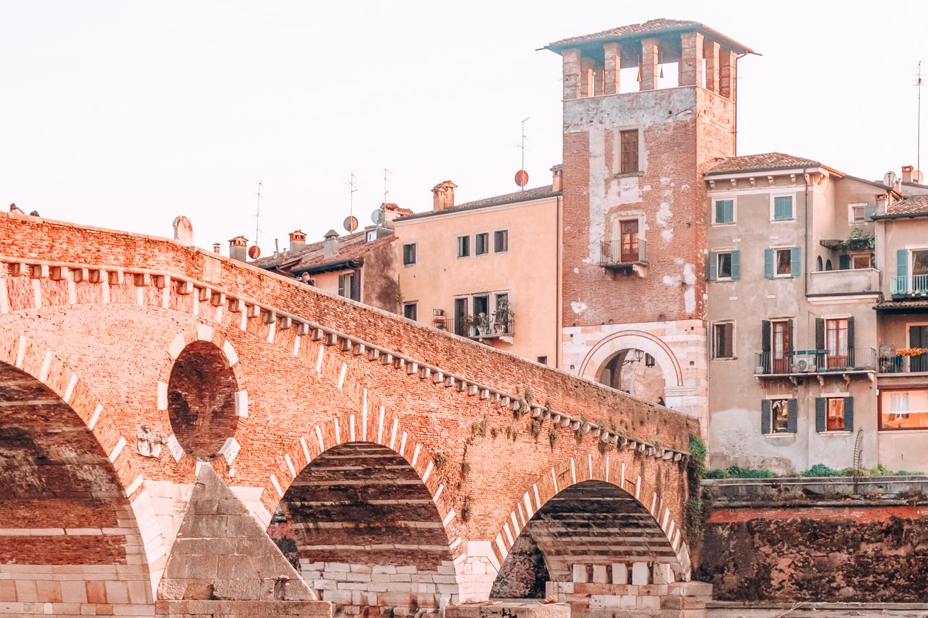 The historic center of Verona