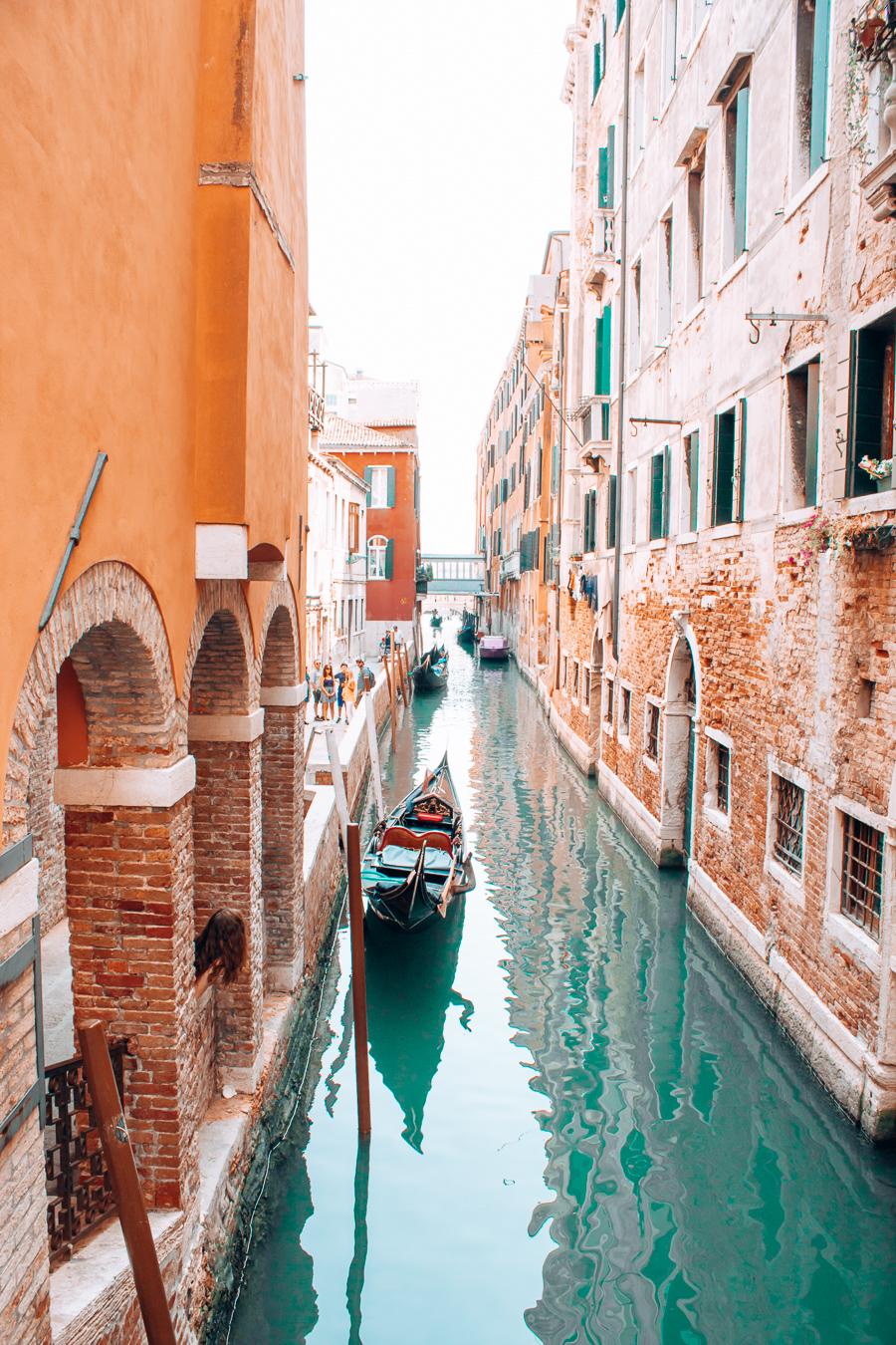 A canal in the Italian city Venice