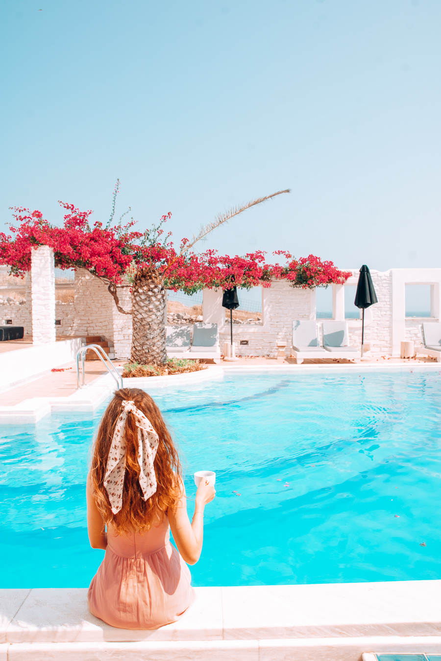 Swimming pool of Mr & Mrs White Paros