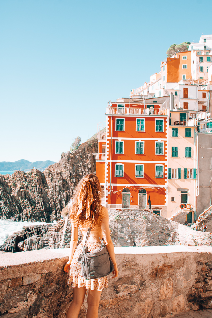 A girl in Riomaggiore
