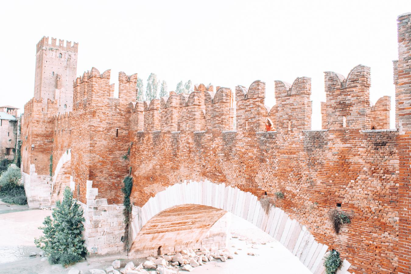 A view of the Castelvecchio Bridge