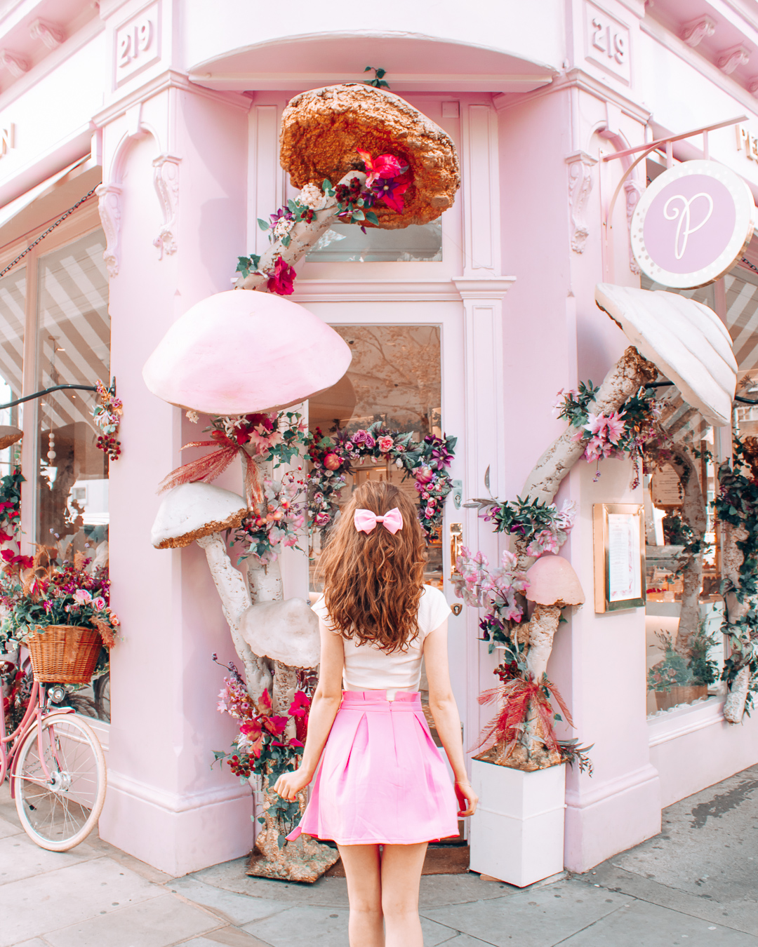 A pink cafe in London