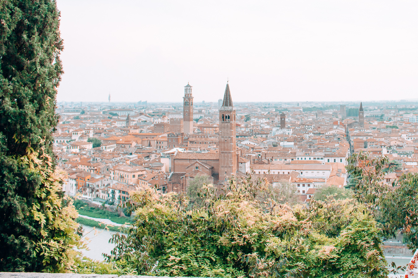 View of Verona from the Castel San Pietro