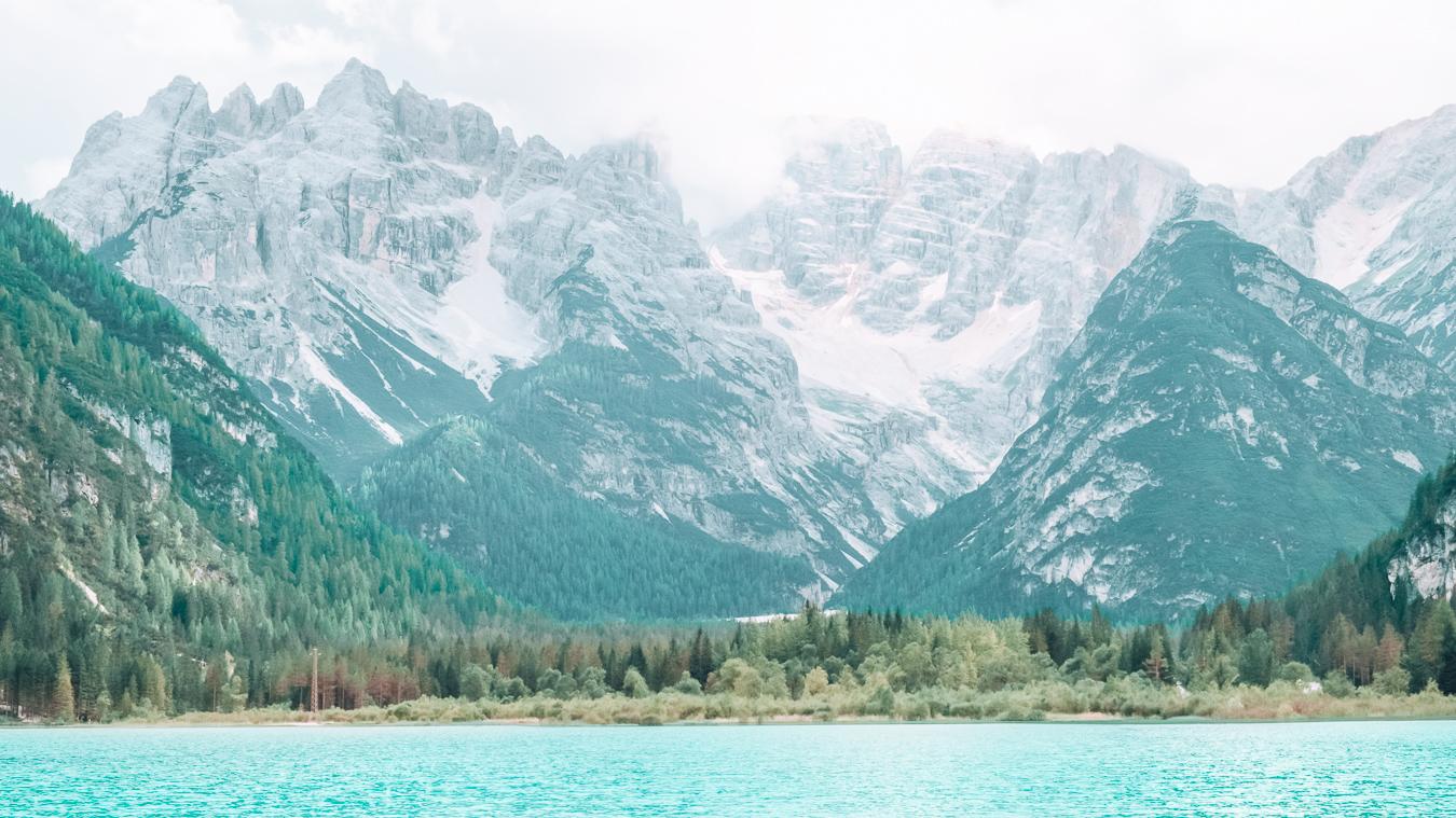 Lake Landro in the Dolomites