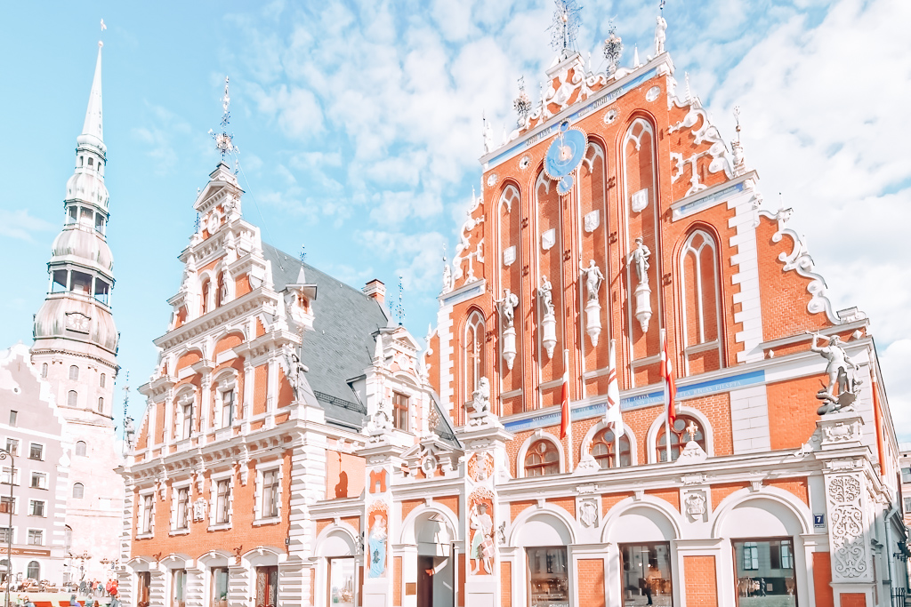 Several buildings in Riga