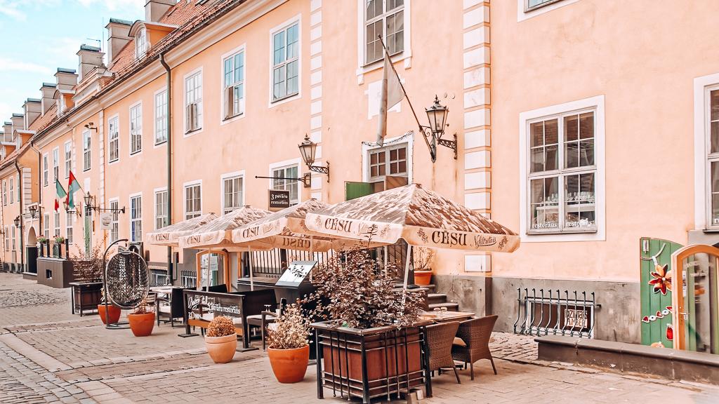 A terrace in Riga