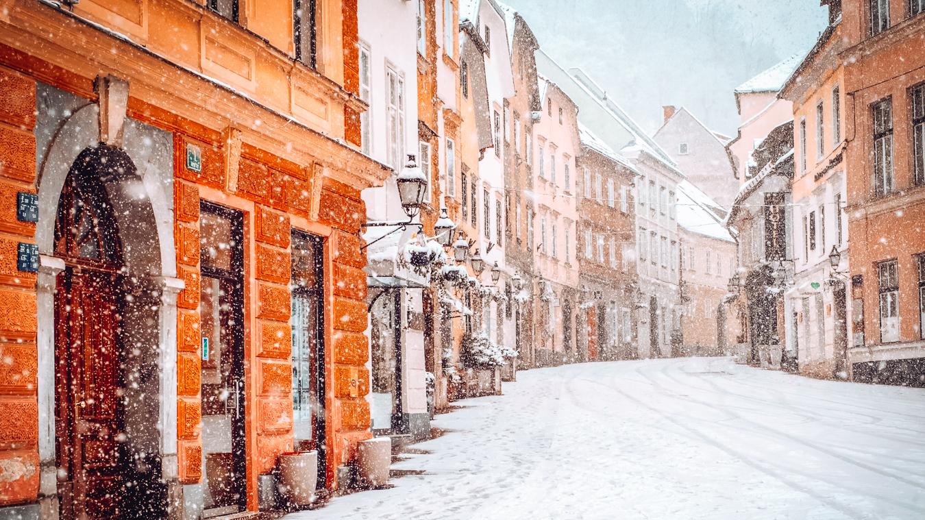 Snow in Ljubljana