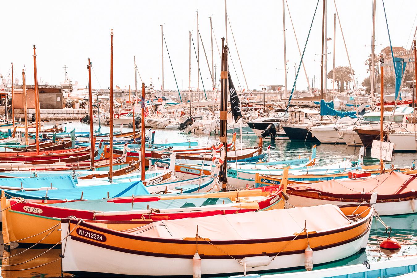 Beautiful boats in Nice