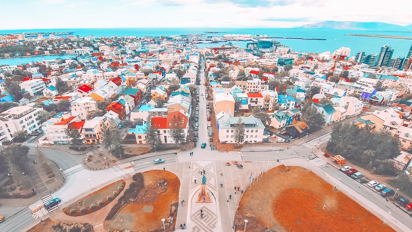 Beautiful buildings in Reykjavik