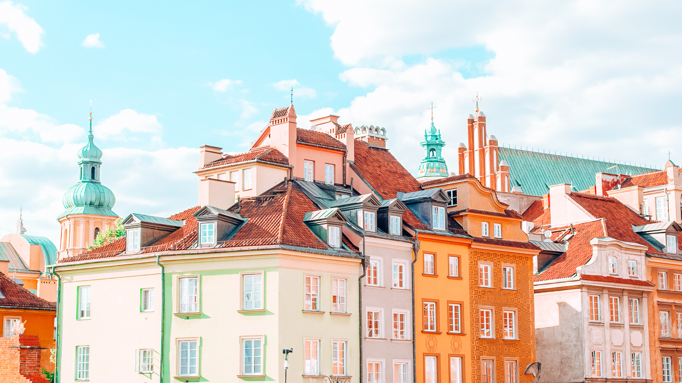 Colorful houses in Warsaw