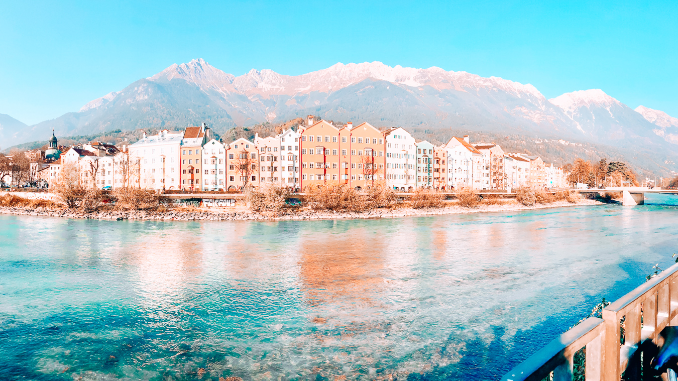 Houses and water in Innsbruck