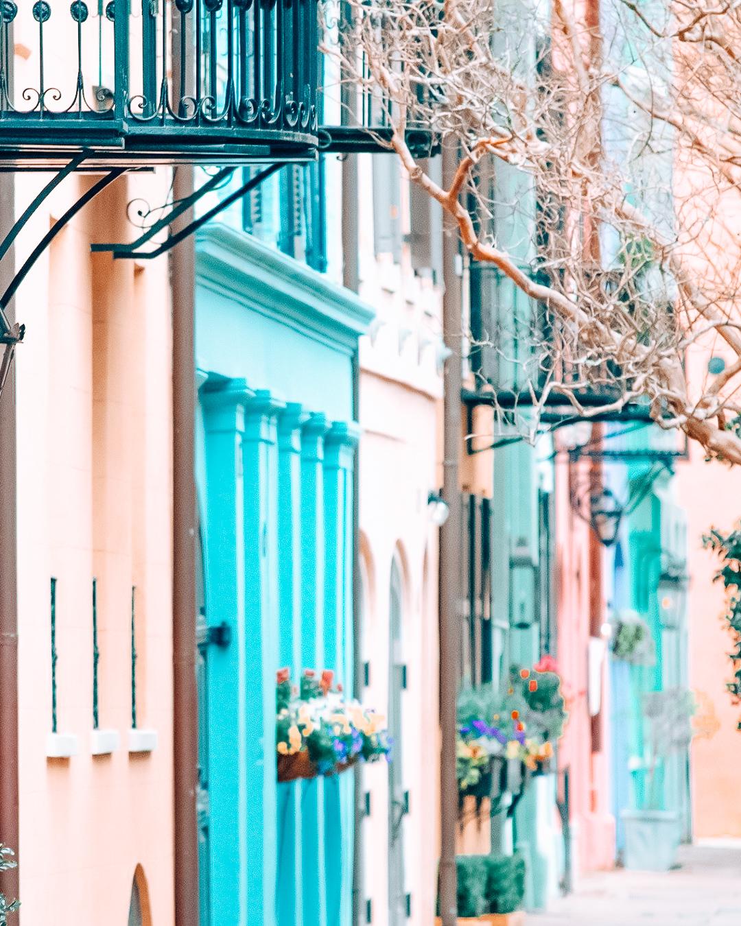 Colorful houses of Rainbow Row