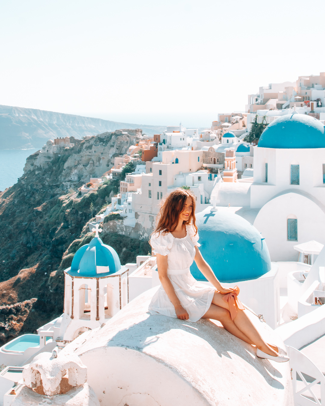 Girl in Santorini