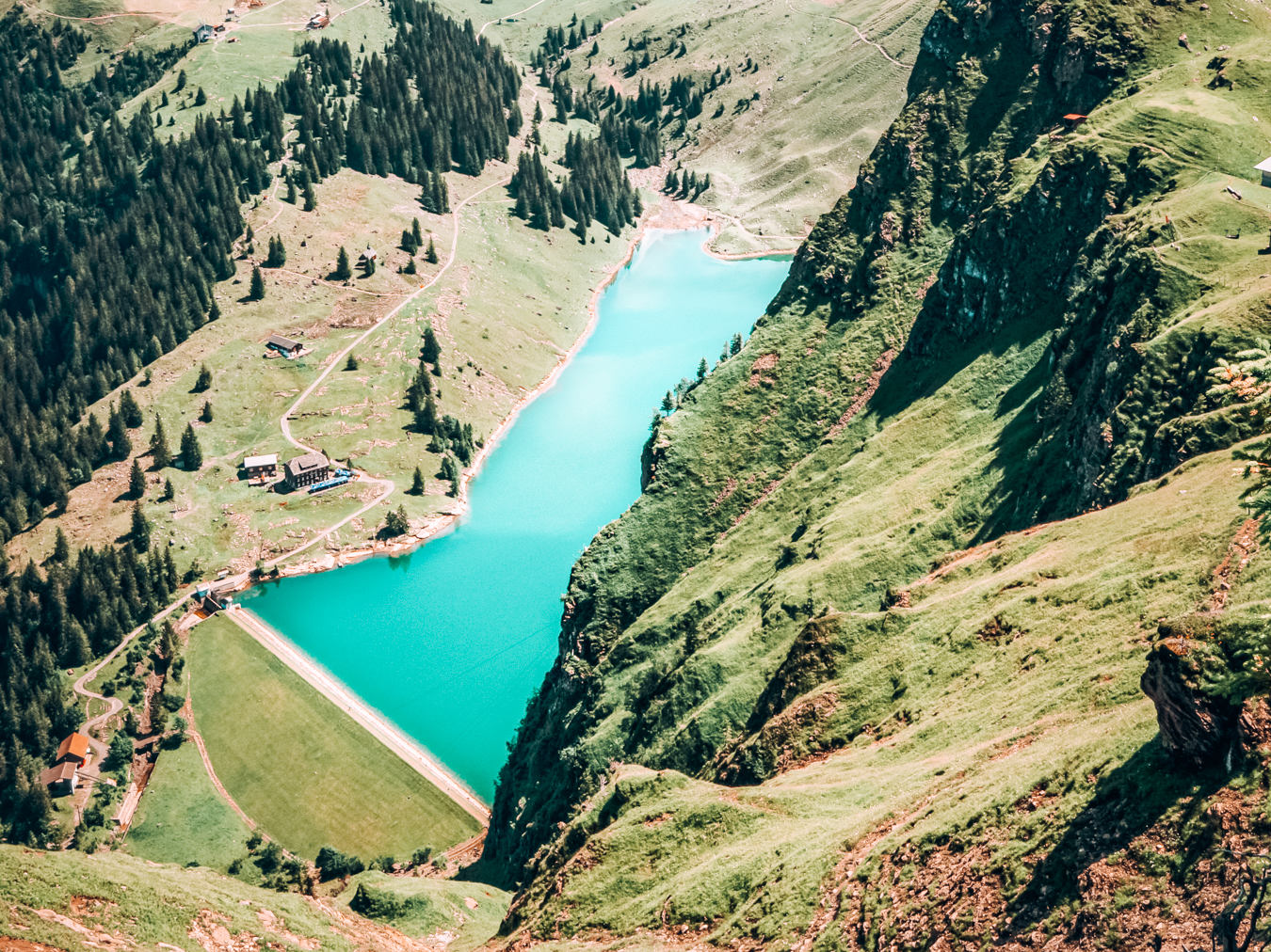 Bannalpsee from above