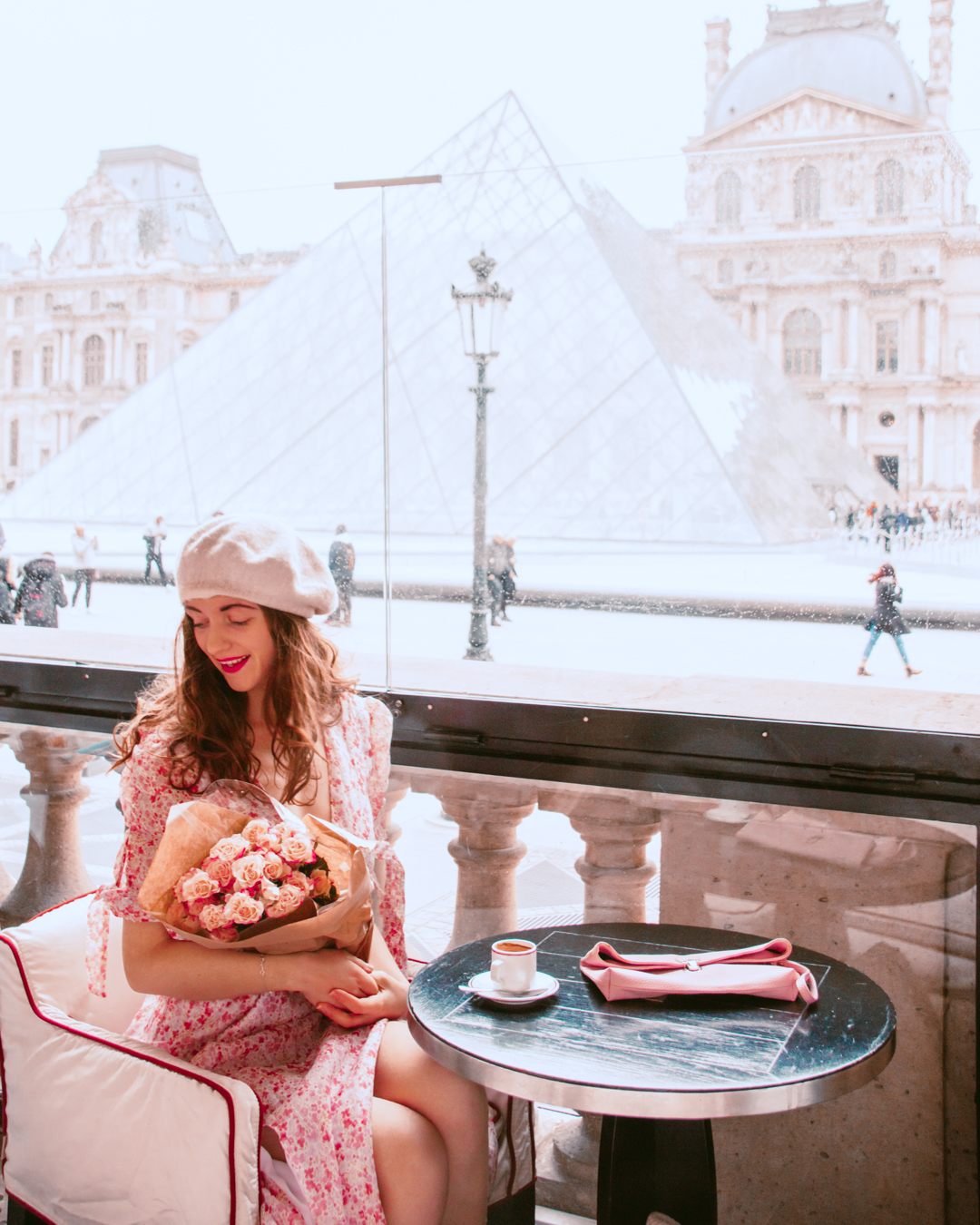 Cafe in front of the Louvre