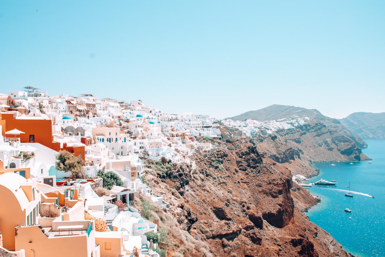 Village and sea