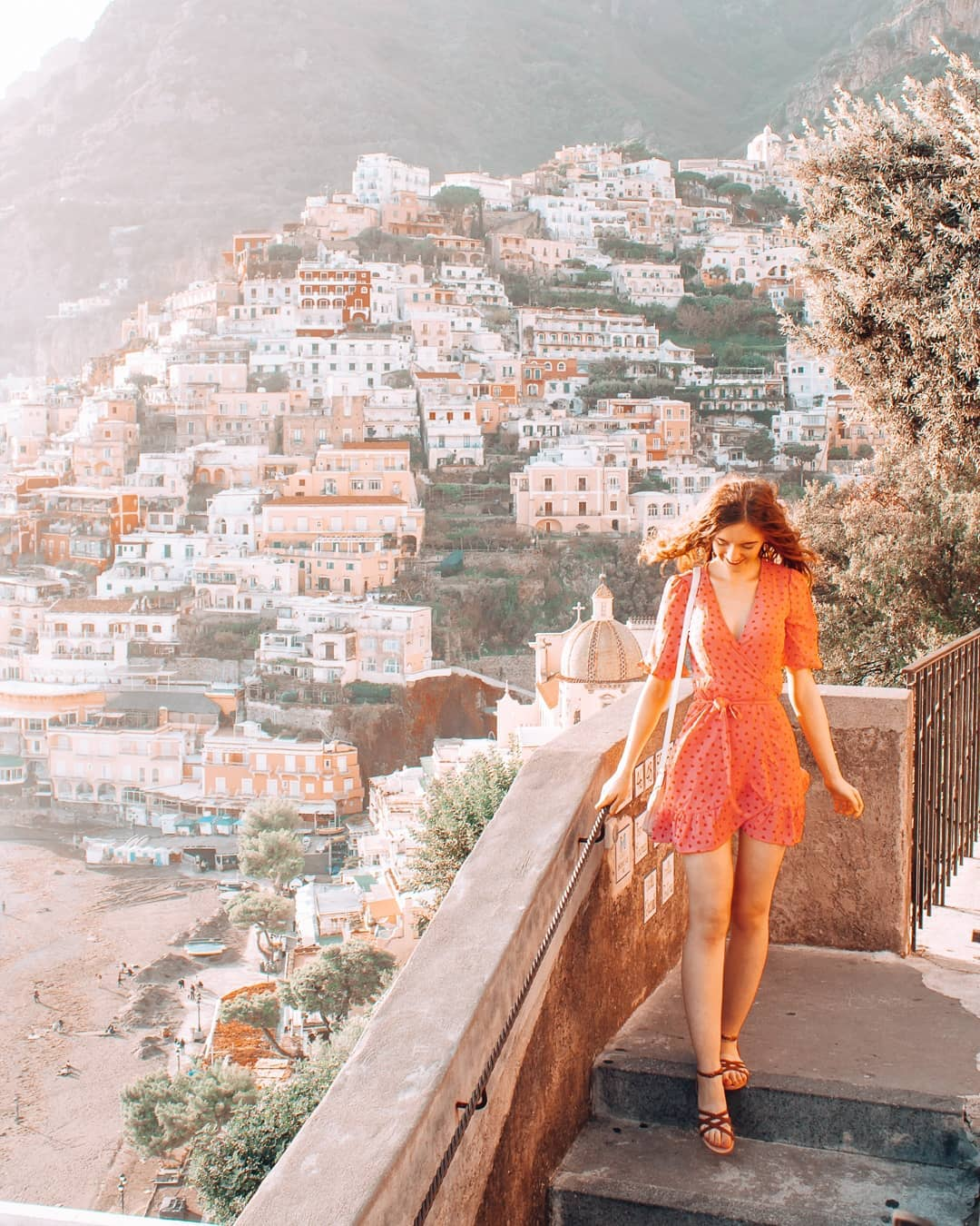 Stairs and houses in Positano