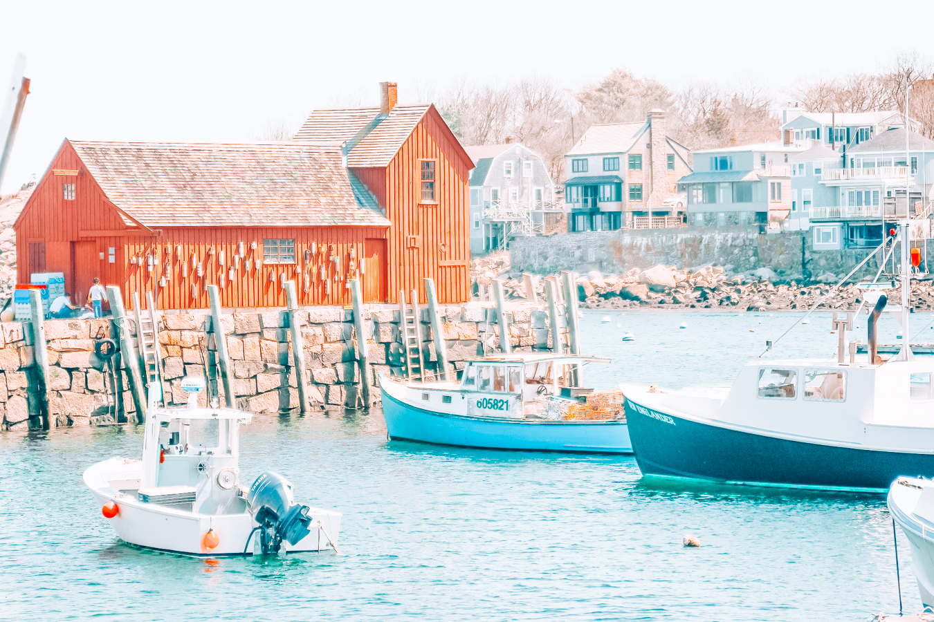 Buildings and boats in Rockport