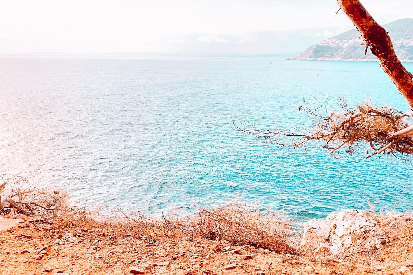Blue water at Saint-Jean-Cap-Ferrat in France