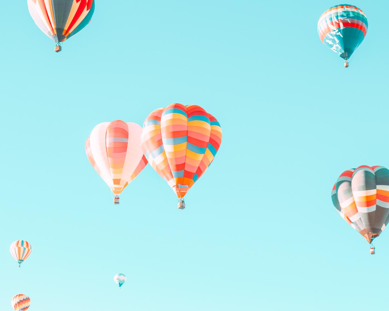 Instagrammable balloons at the Albuquerque International Balloon Fiesta