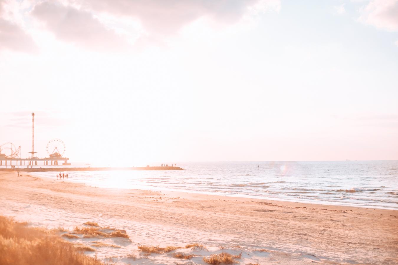 Beach in Galveston in Texas