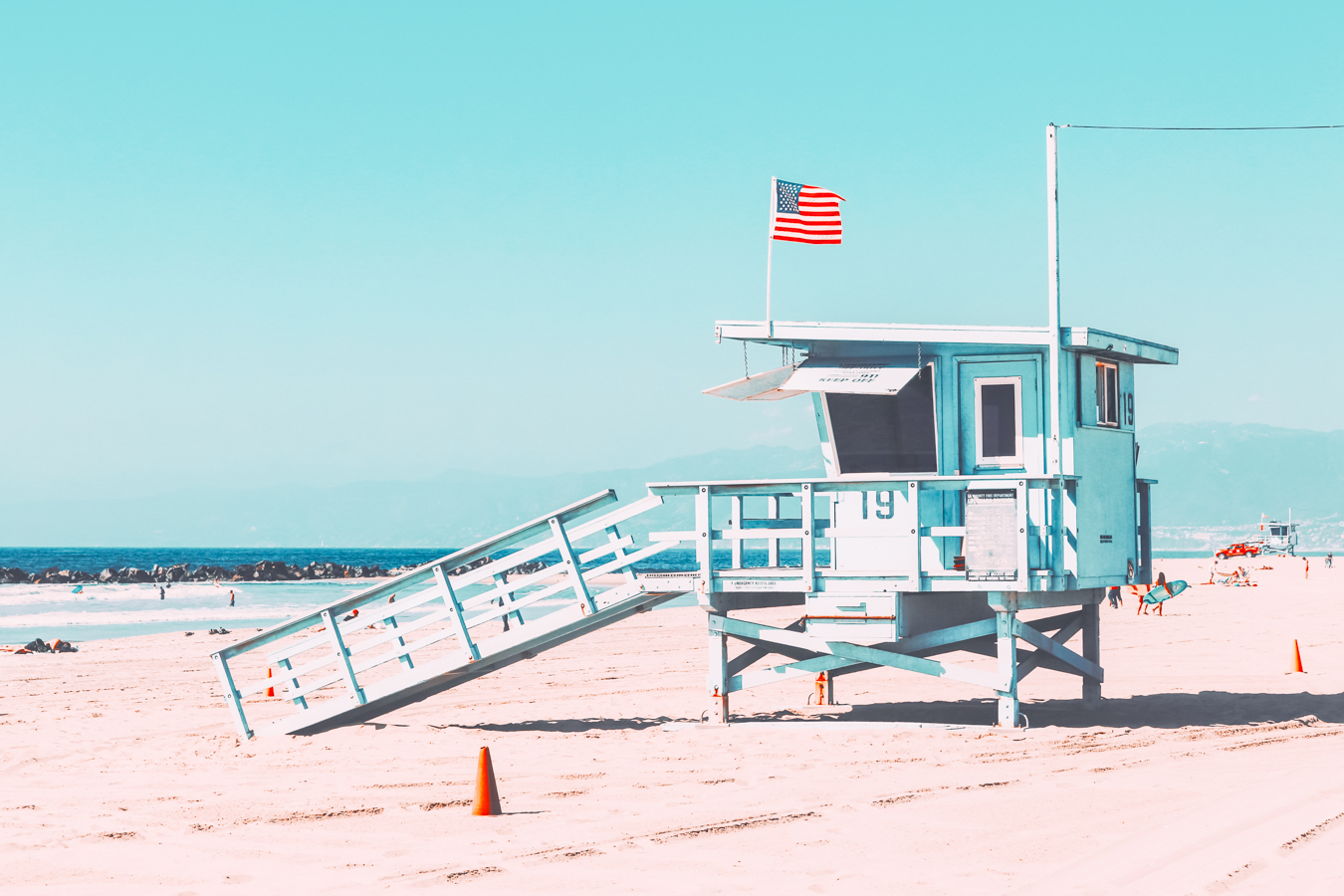 Blue Lifeguard in Los Angeles