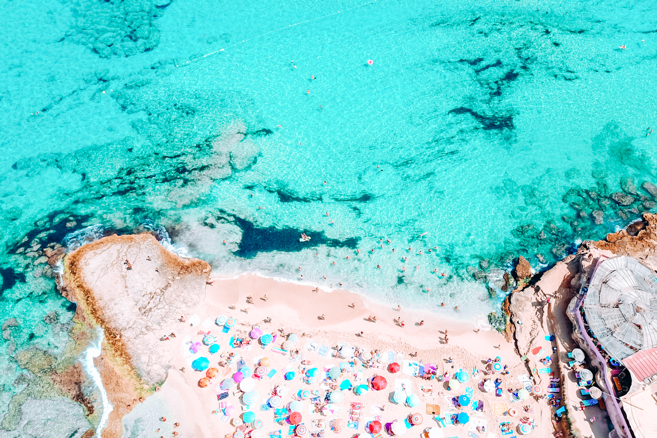 Cala Comte from above