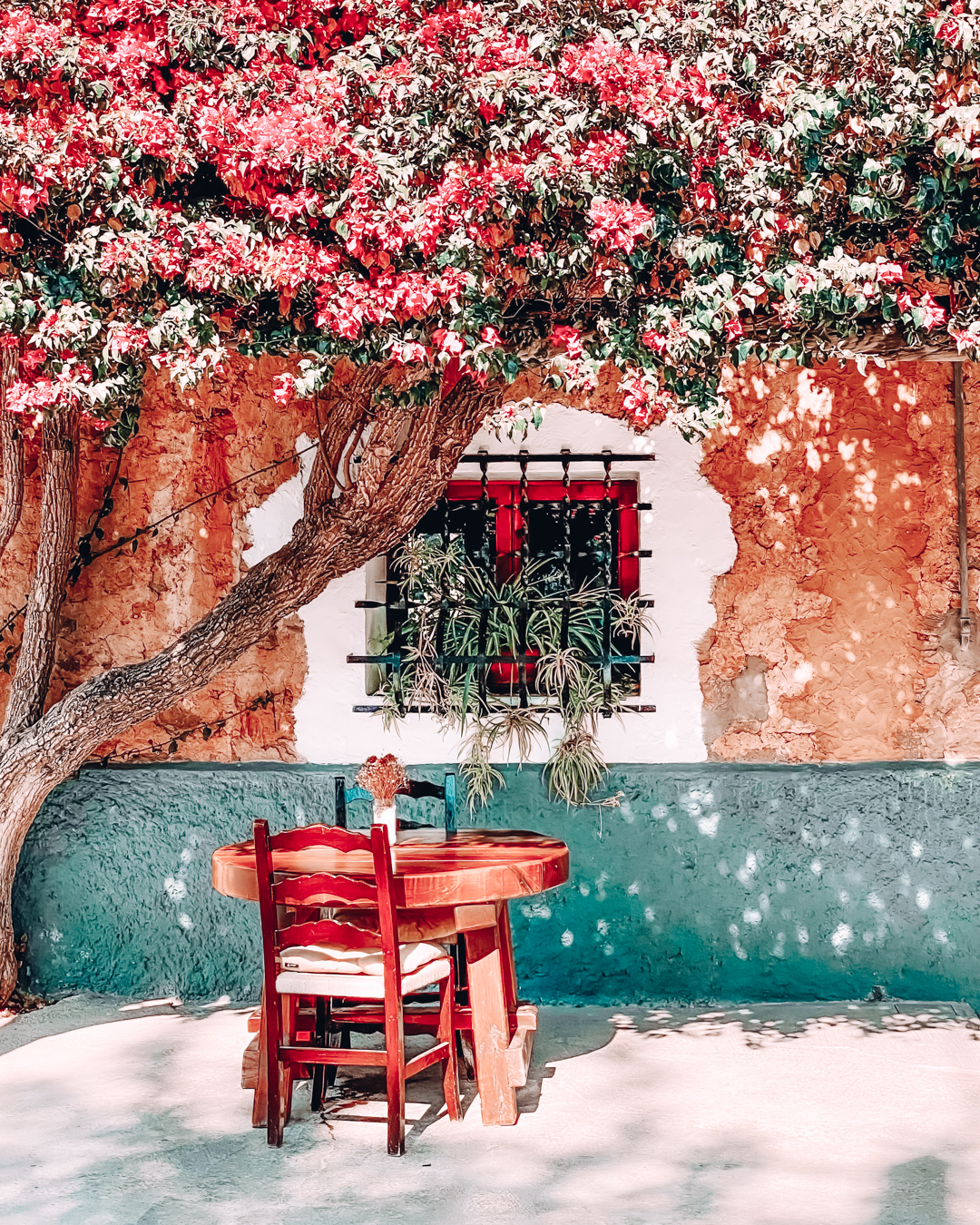 Seats and flowers at Can Muson Desa Vila