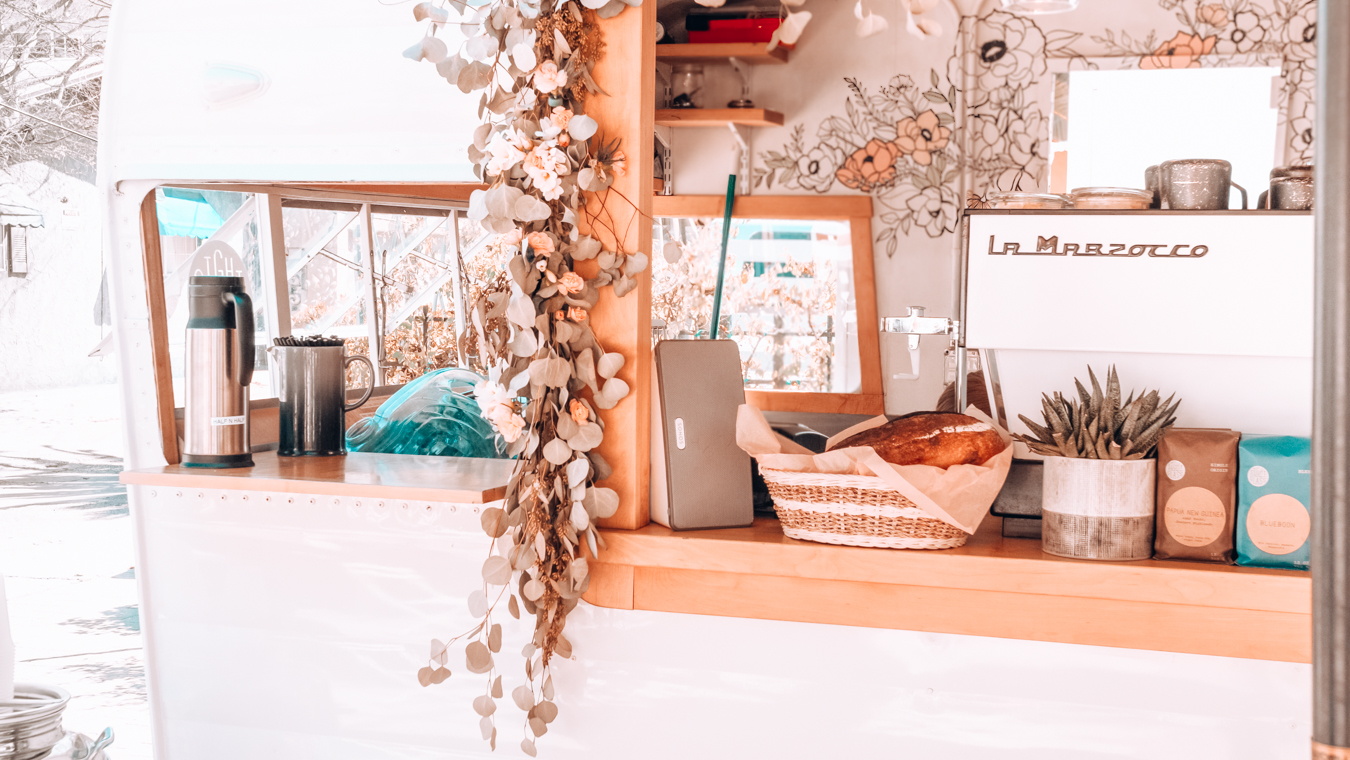 Desk at Communal Coffee
