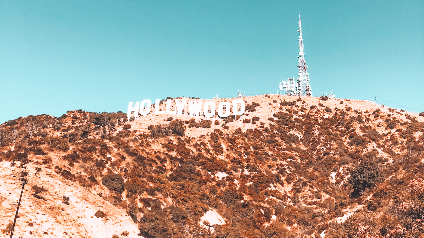 View of the Hollywood sign in Los Angeles