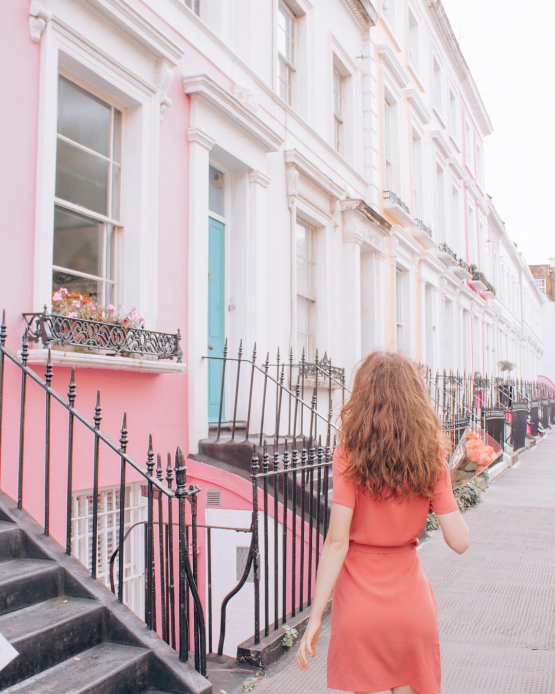 Pink house at Denbigh Terrace