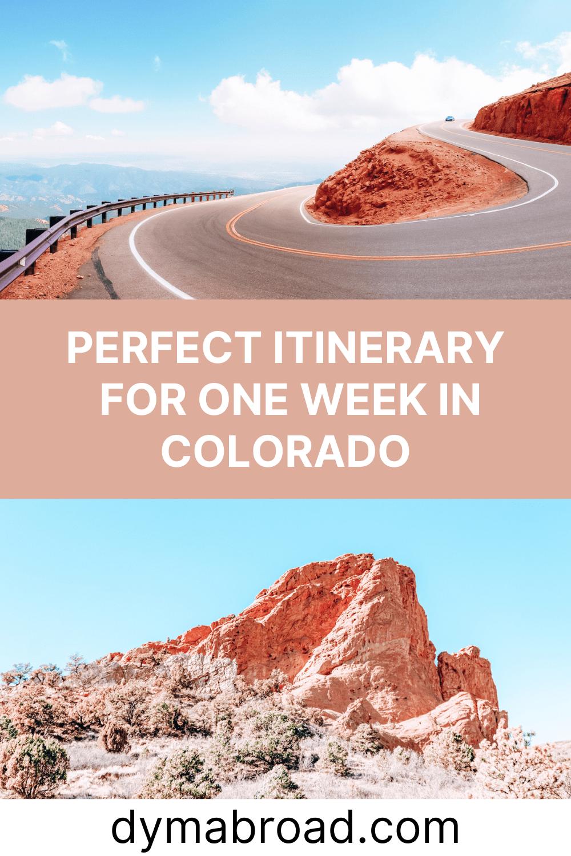 One week in Colorado second Pinterest image