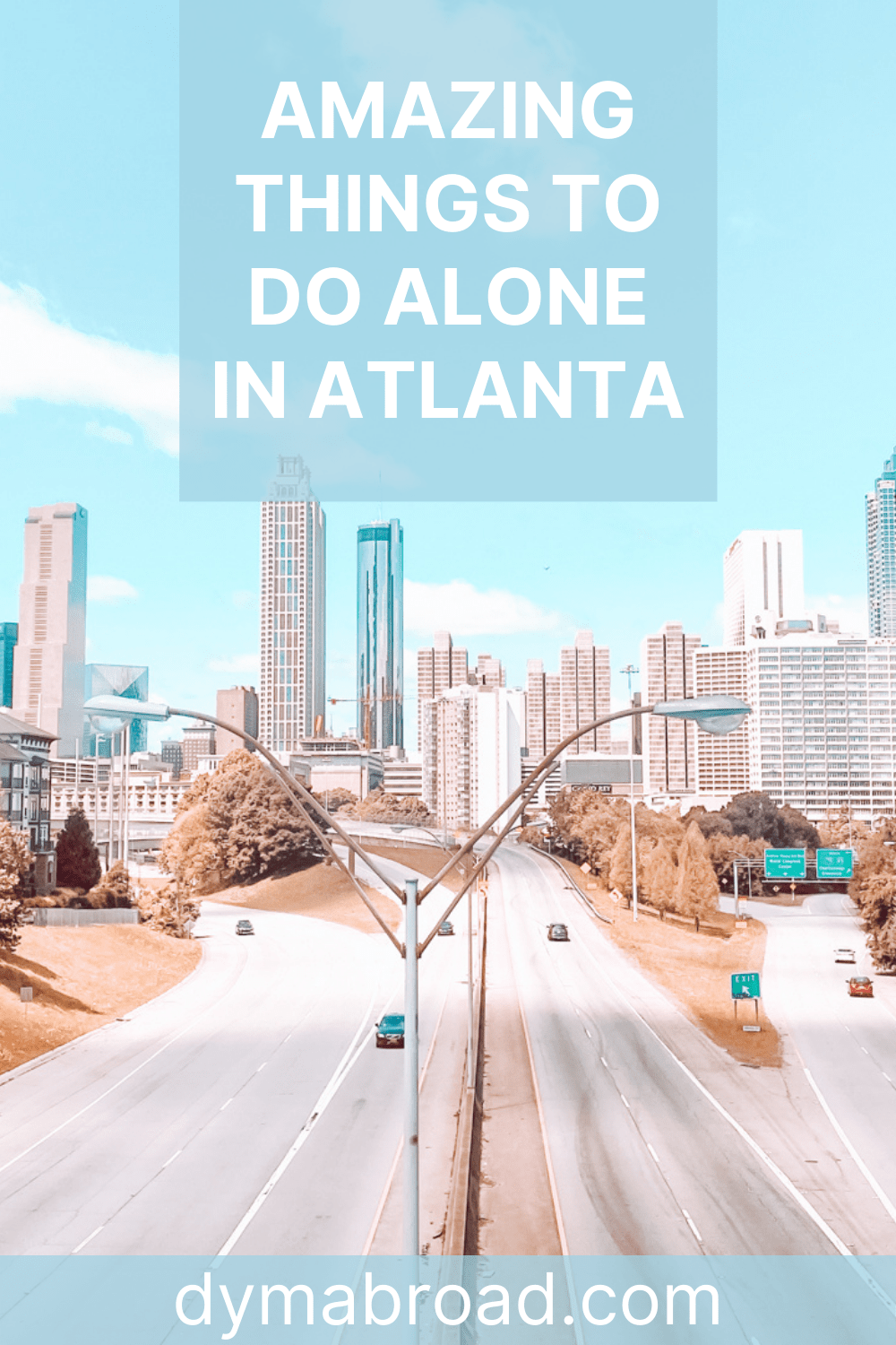 Things to do alone in Atlanta Pinterest image