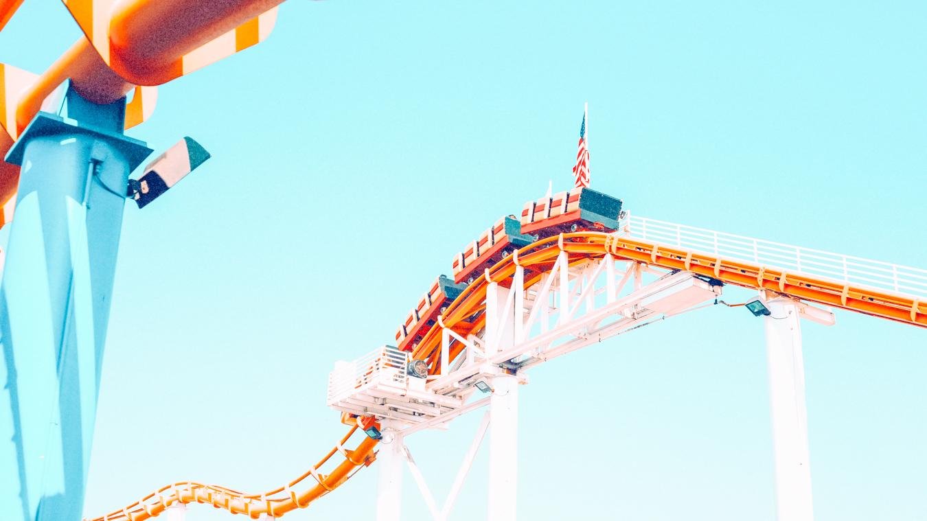 Roller coaster at Santa Monica Pier
