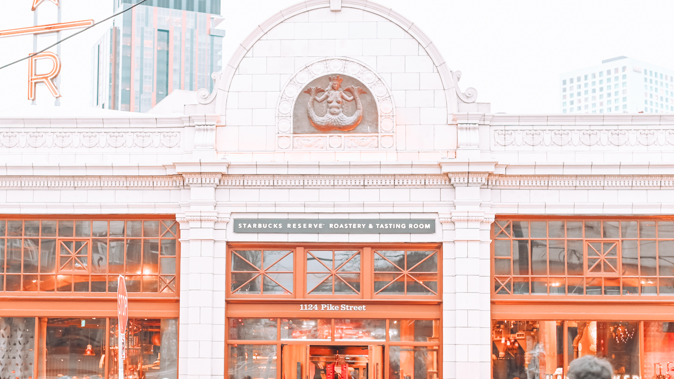The outside of Starbucks Reserve Roastery in Seattle