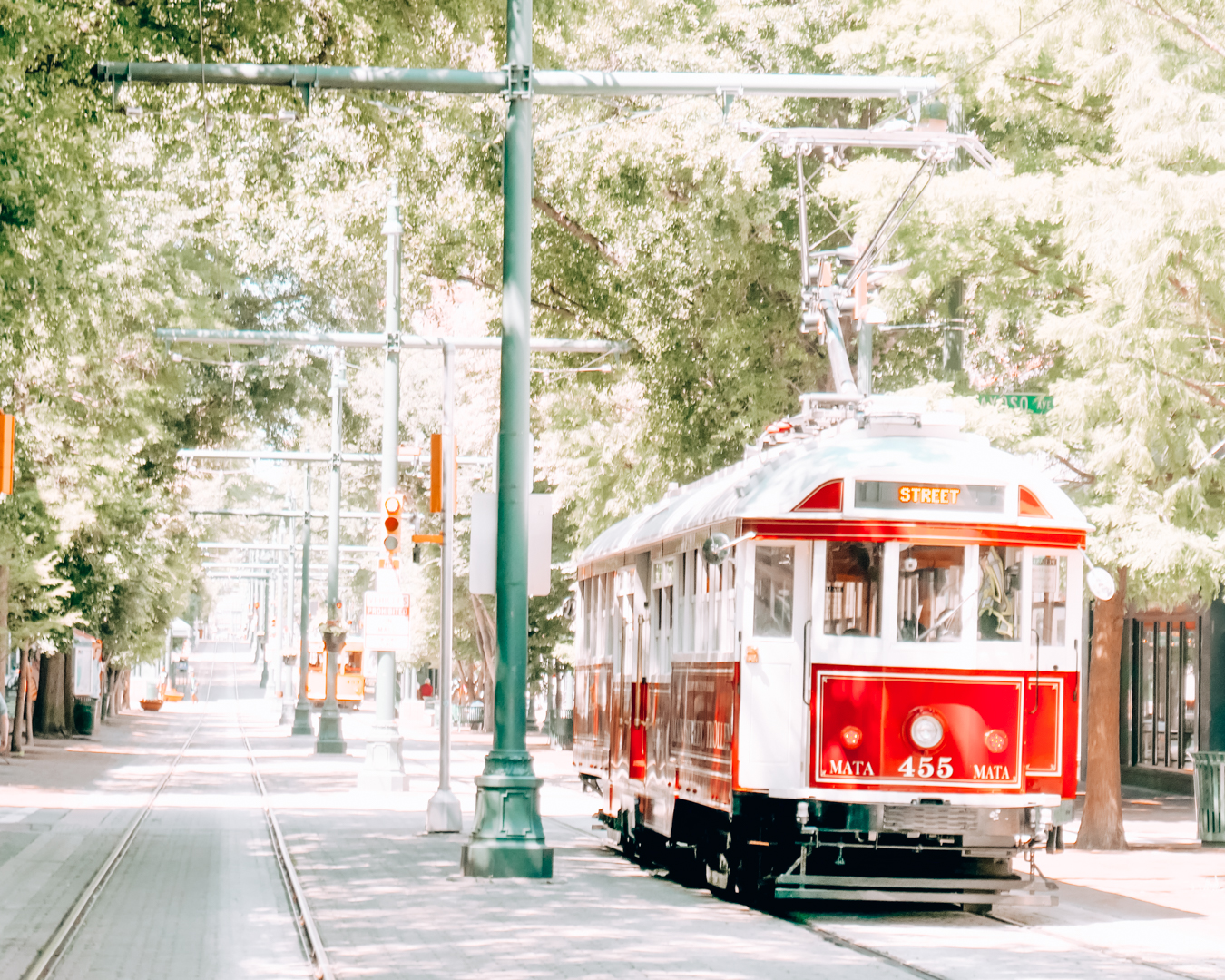 Red Memphis Trolley