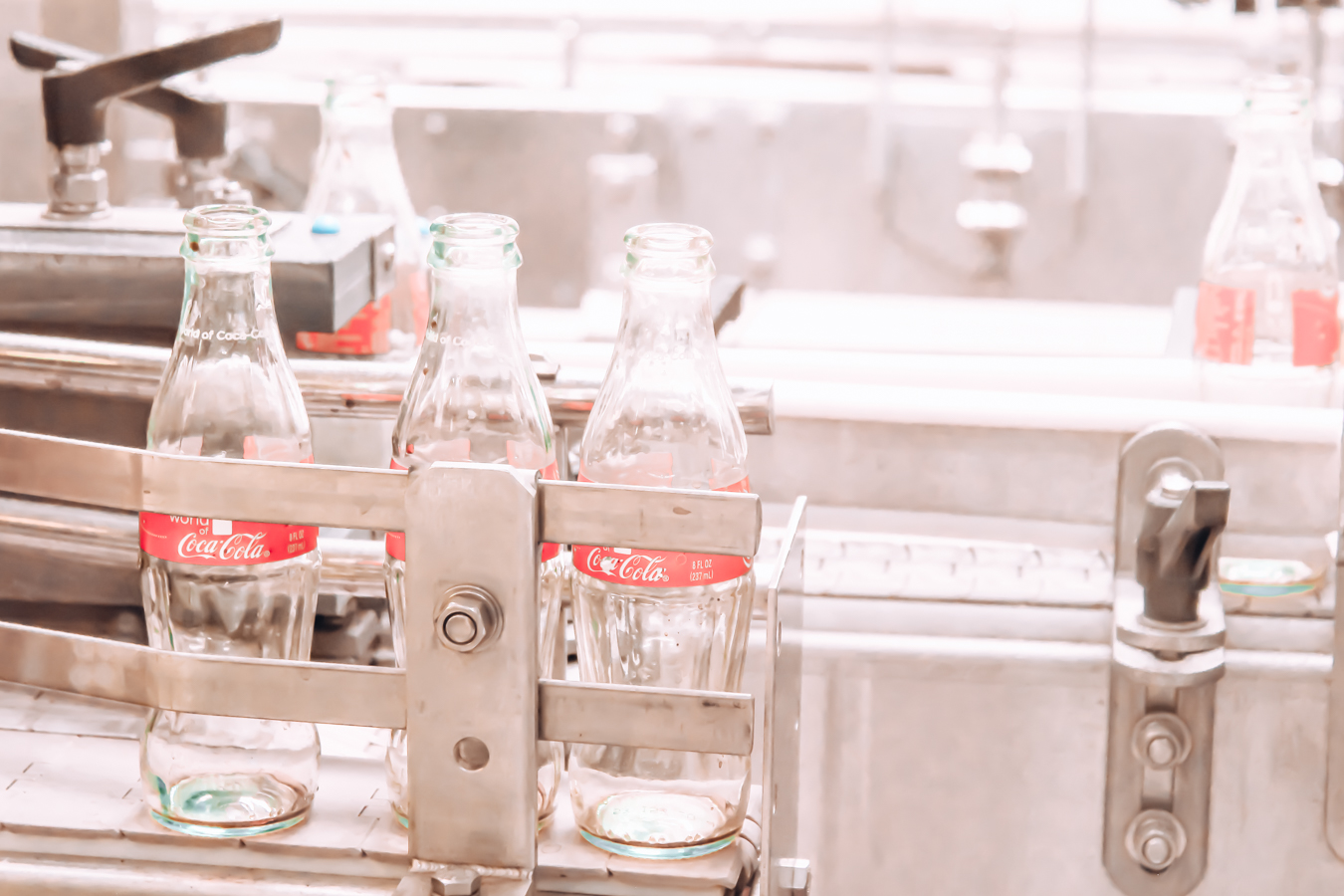 Bottles at the World of Coca-Cola