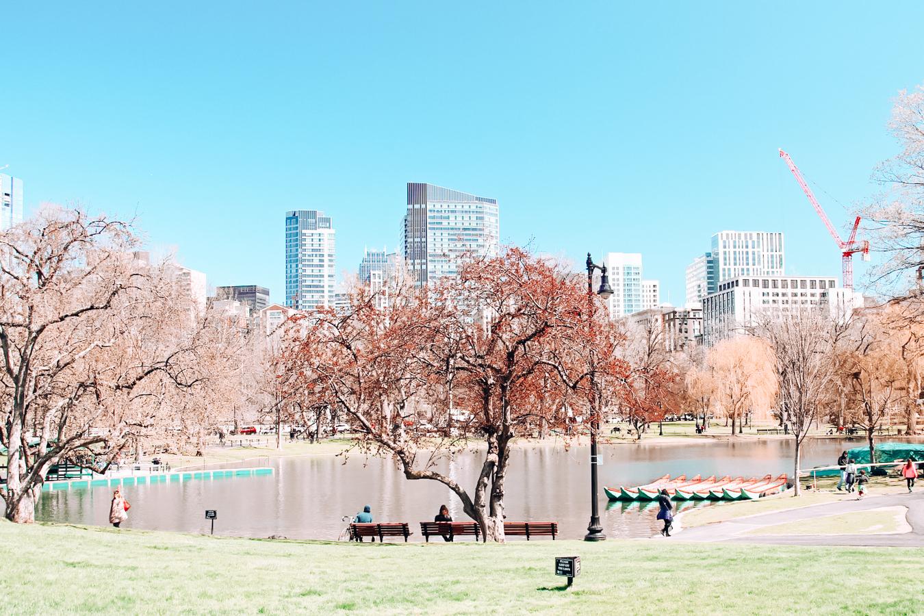 Public Garden in Boston