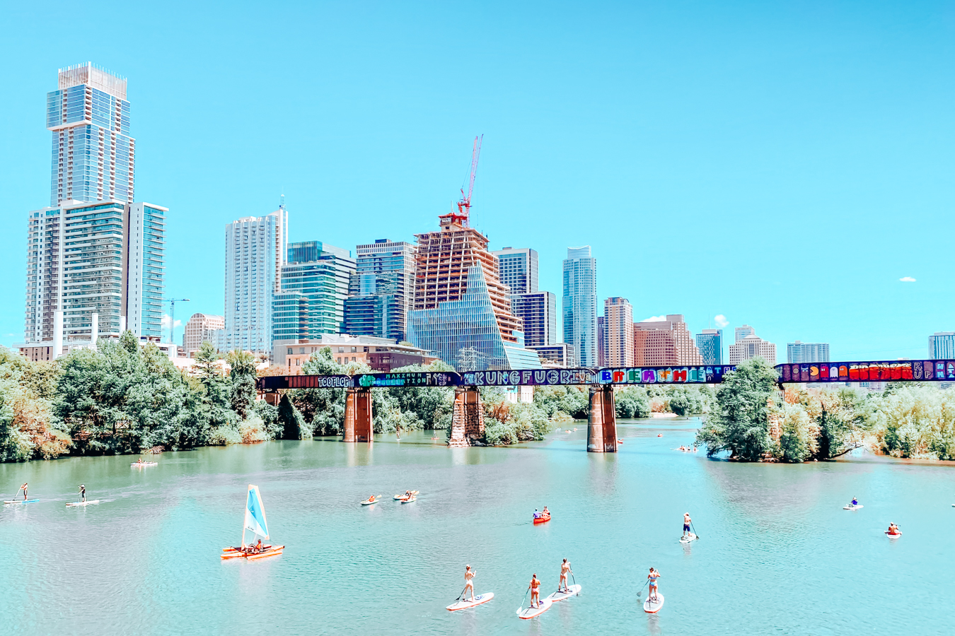 Skyline of Austin from the water