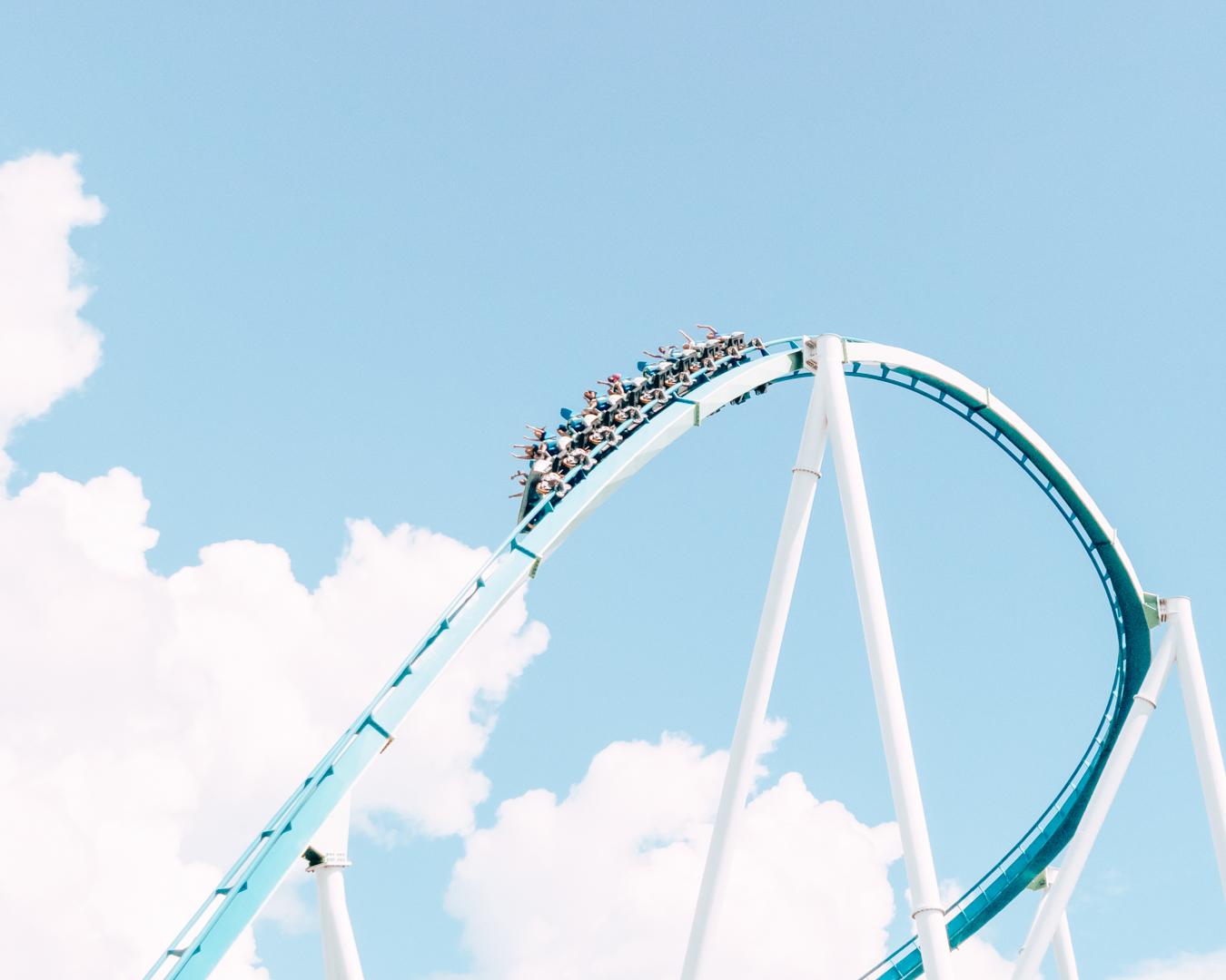Roller coaster at Carowinds