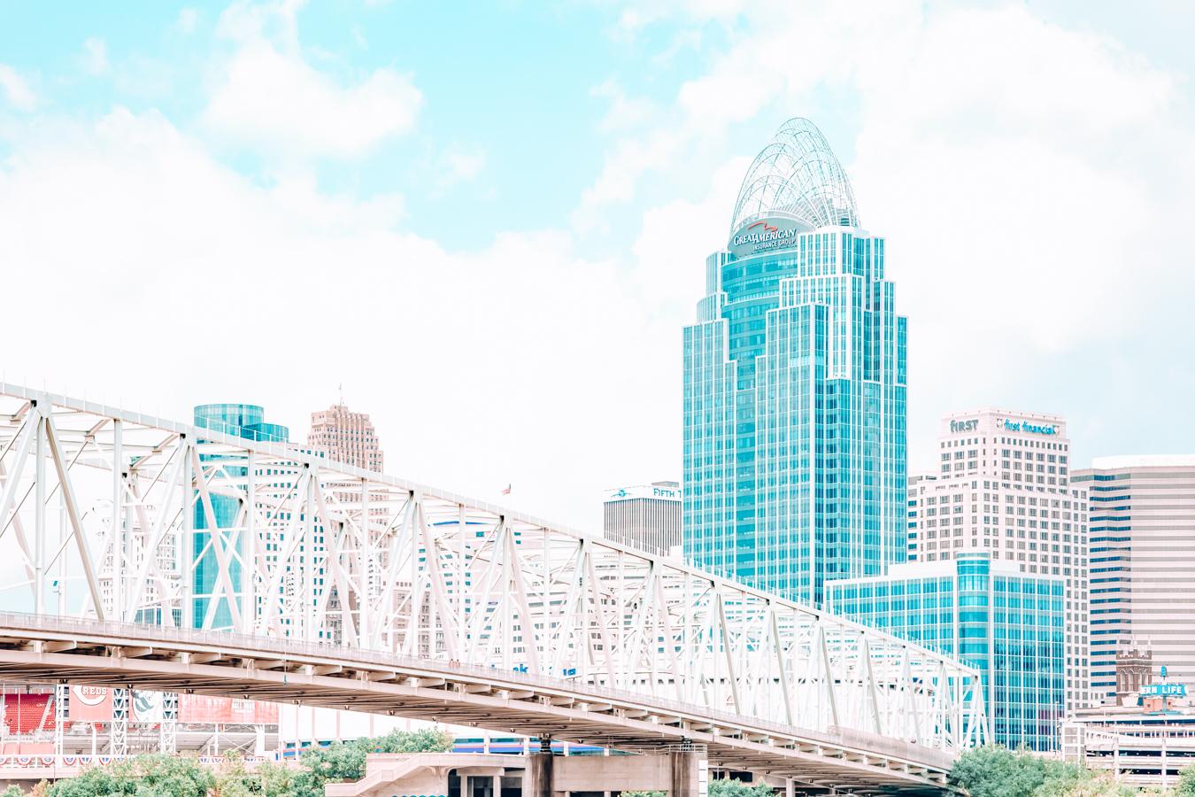 Bridge and buildings in Cincinnati
