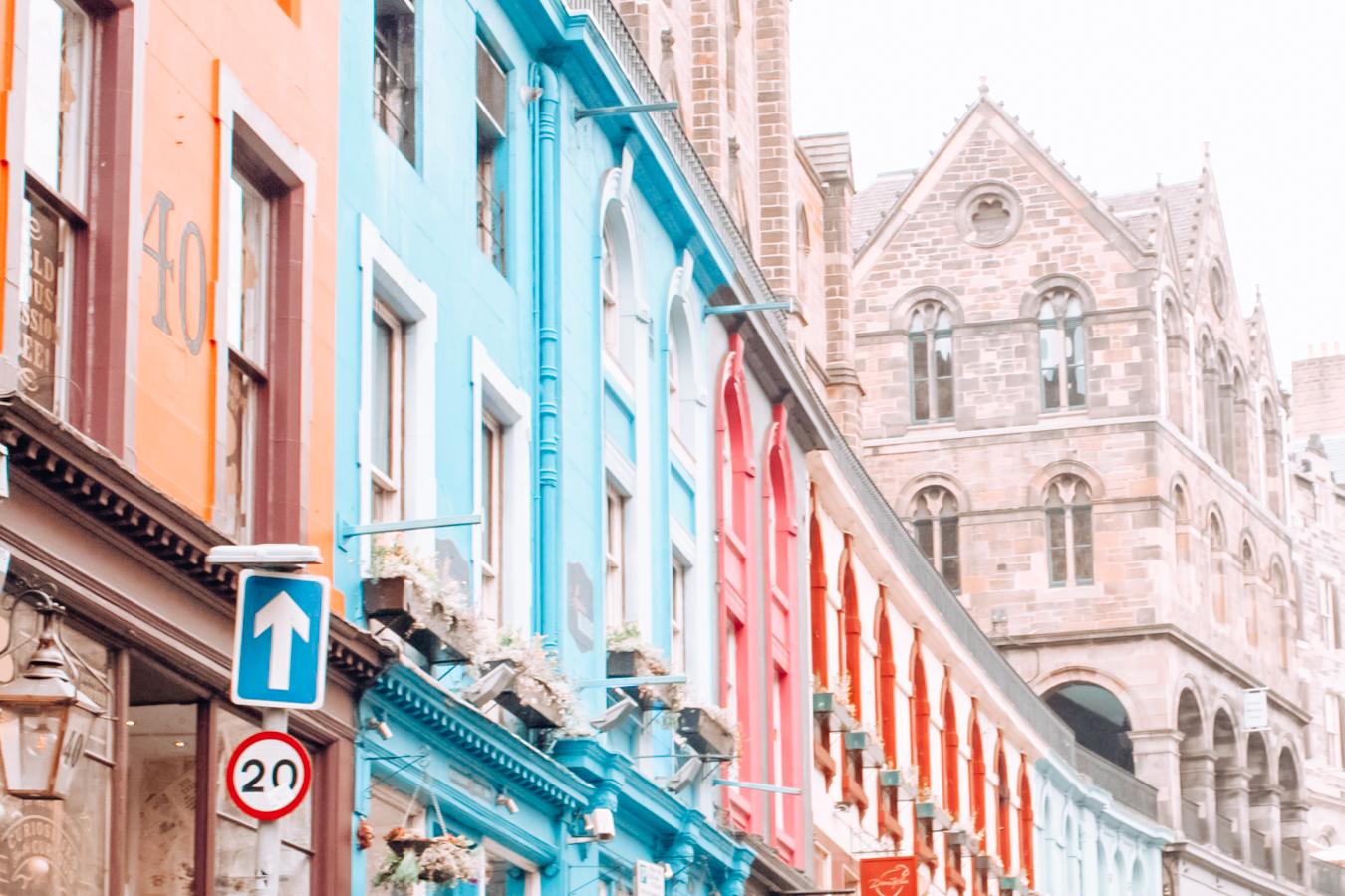 Colorful buildings in Edinburgh
