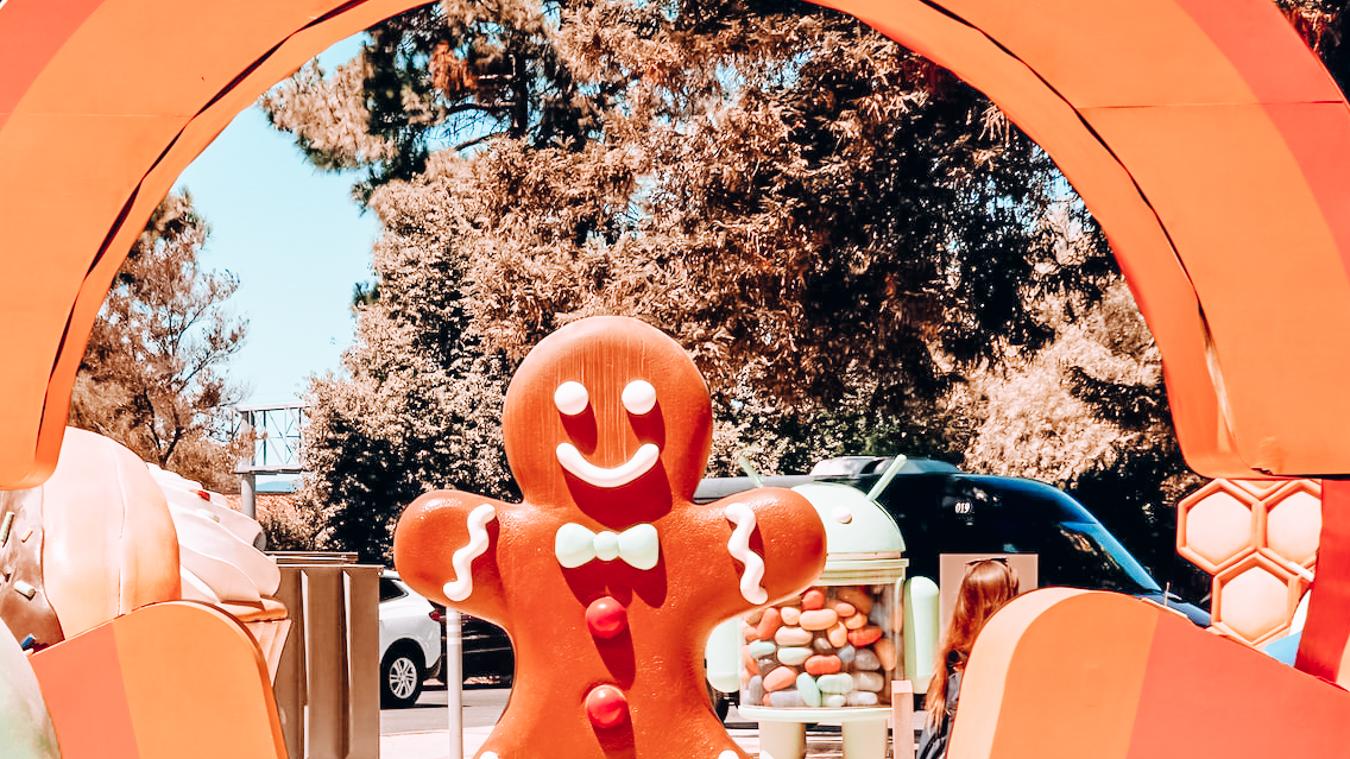 Gingerbread statue at Googleplex