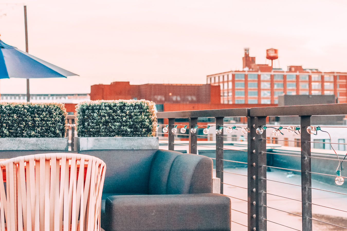 Instagrammable view from Hewing Hotel in Minneapolis