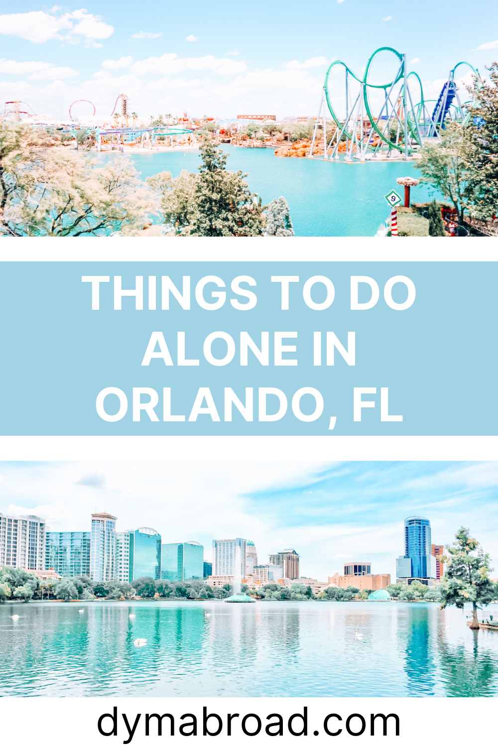 Things to do alone in Orlando Pinterest image