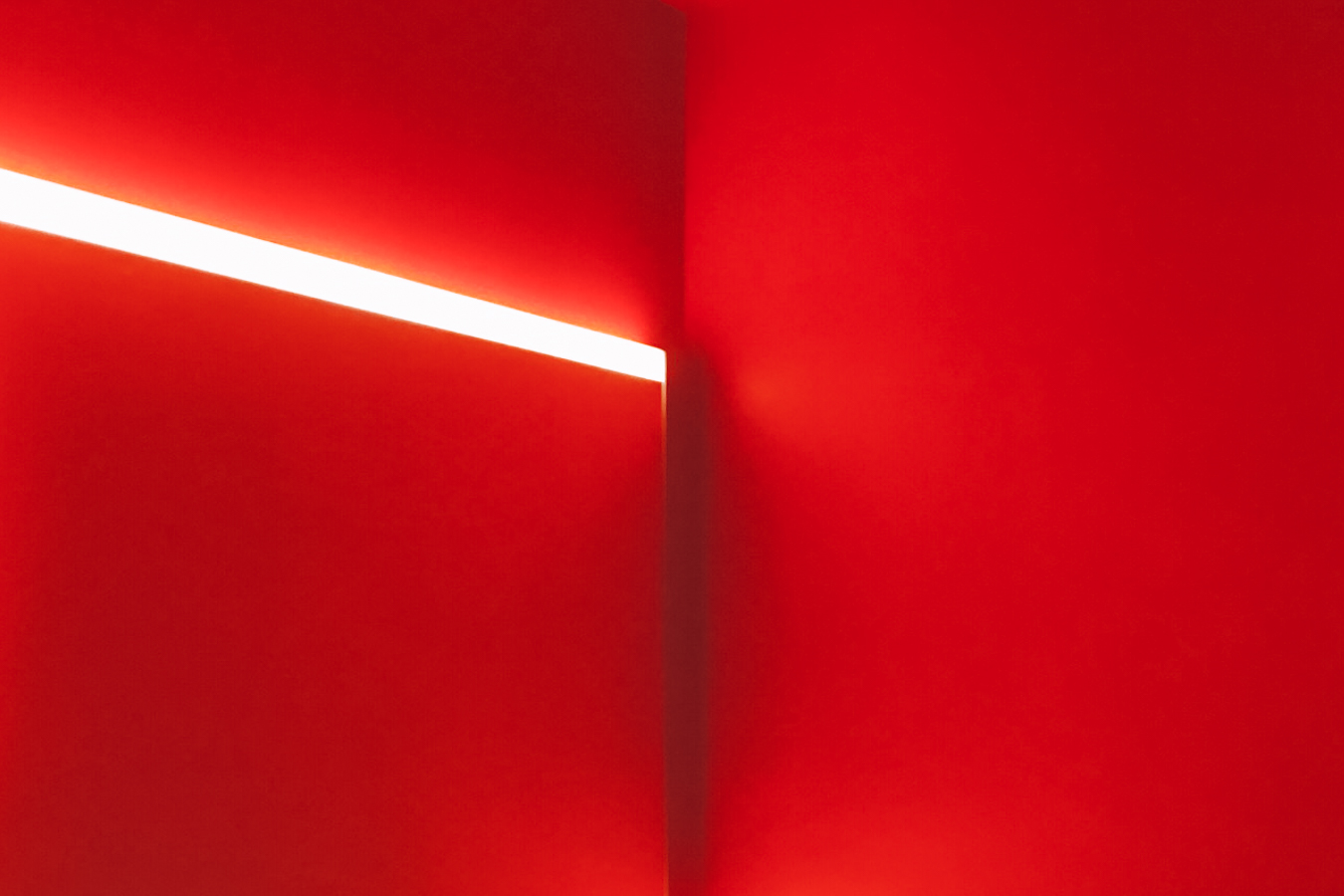 Red room in the San Francisco Modern Museum of Art