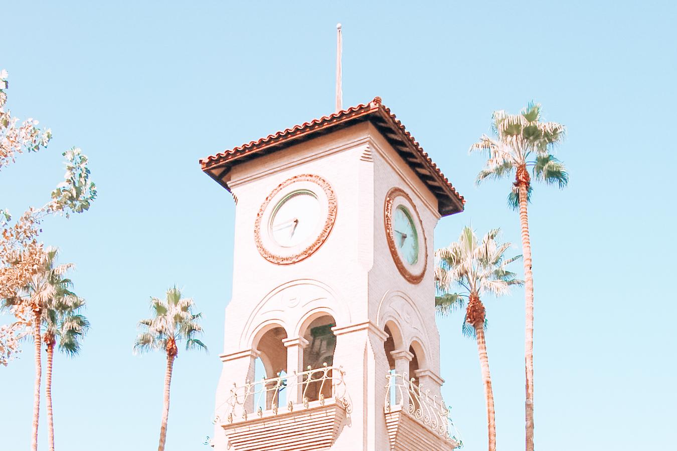Clock tower in Bakersfield