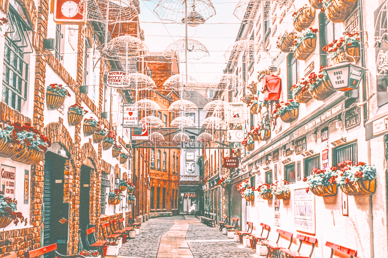 Street with decorations