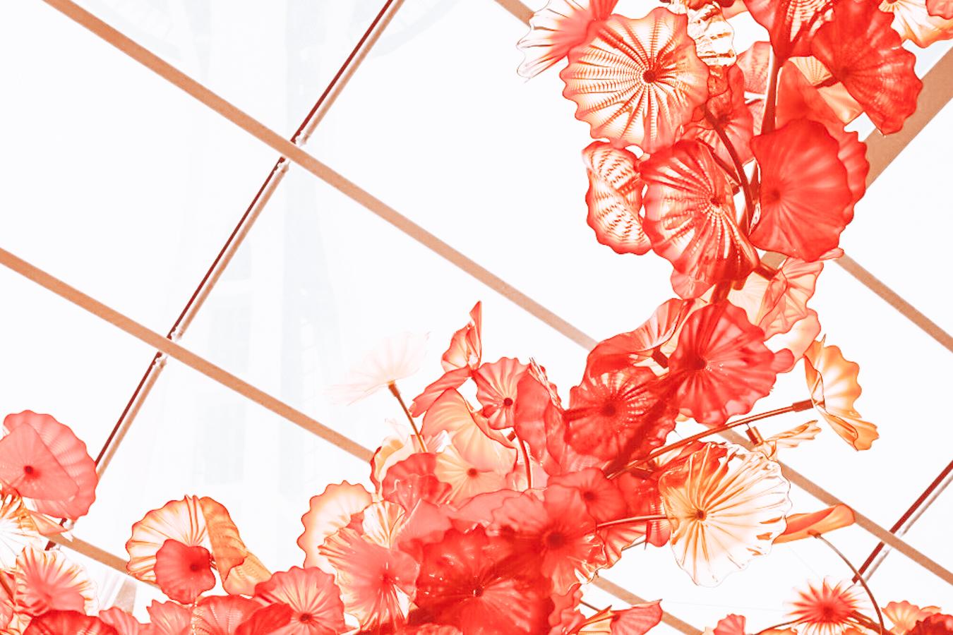 Instagrammable glass art in Seattle